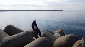 丸島防波堤の初釣りは