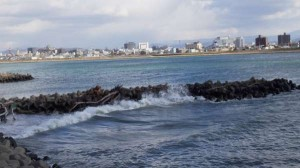 紀ノ川河口も荒れてます!週末なのに(> <)10日RT