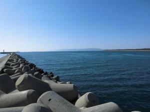お天気最高!!本日の紀ノ川河口の状況です!