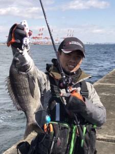 岸黒ゲーム好調 2/19(日)神戸沖堤防釣果情報